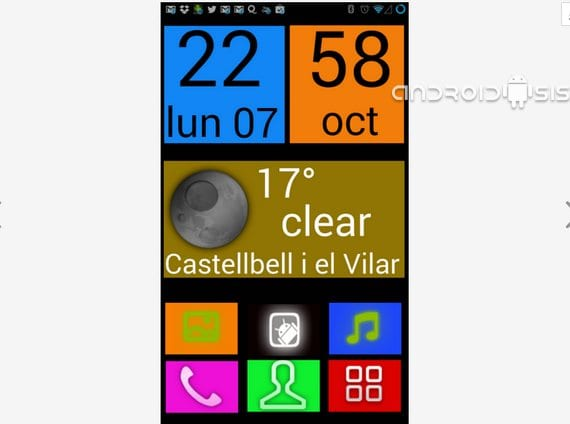 Applications incredible for Android: Today Big Launcher UCCW Skin