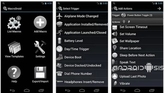 Applications incredible for Android, today MacroDroid