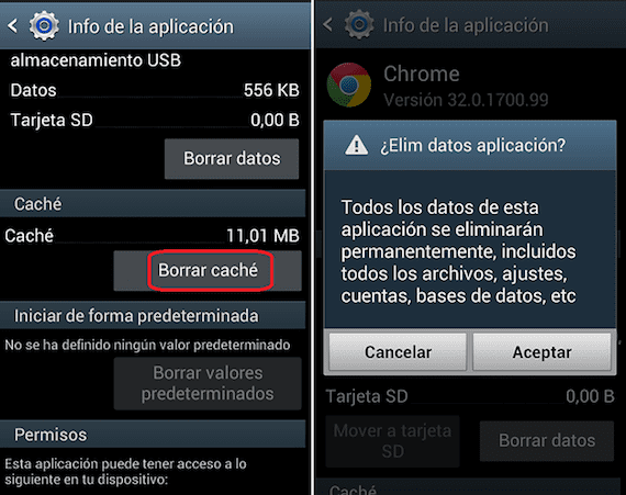 clear cache Android Deleting data from the cache of an application on Android